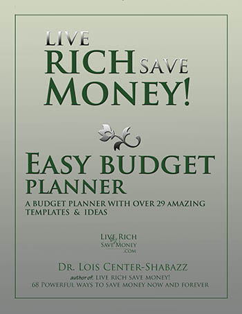 Live Rich Save Money Easy Budget Planner