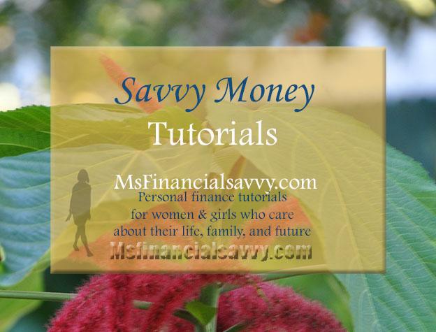 personal finance savvy money tutorials