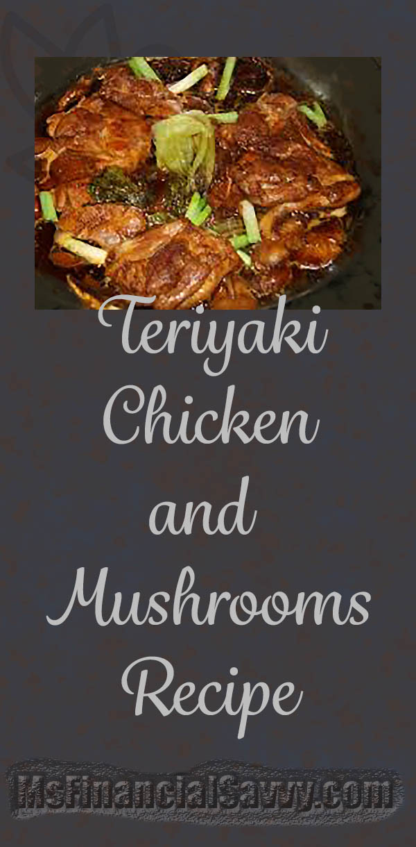 Dinner ideas with chicken teriyaki and mushrooms recipe