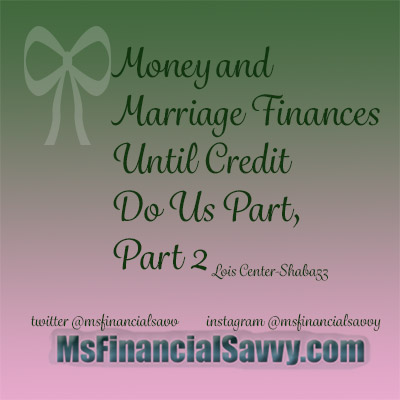 Get Money Before Marriage Finances Right