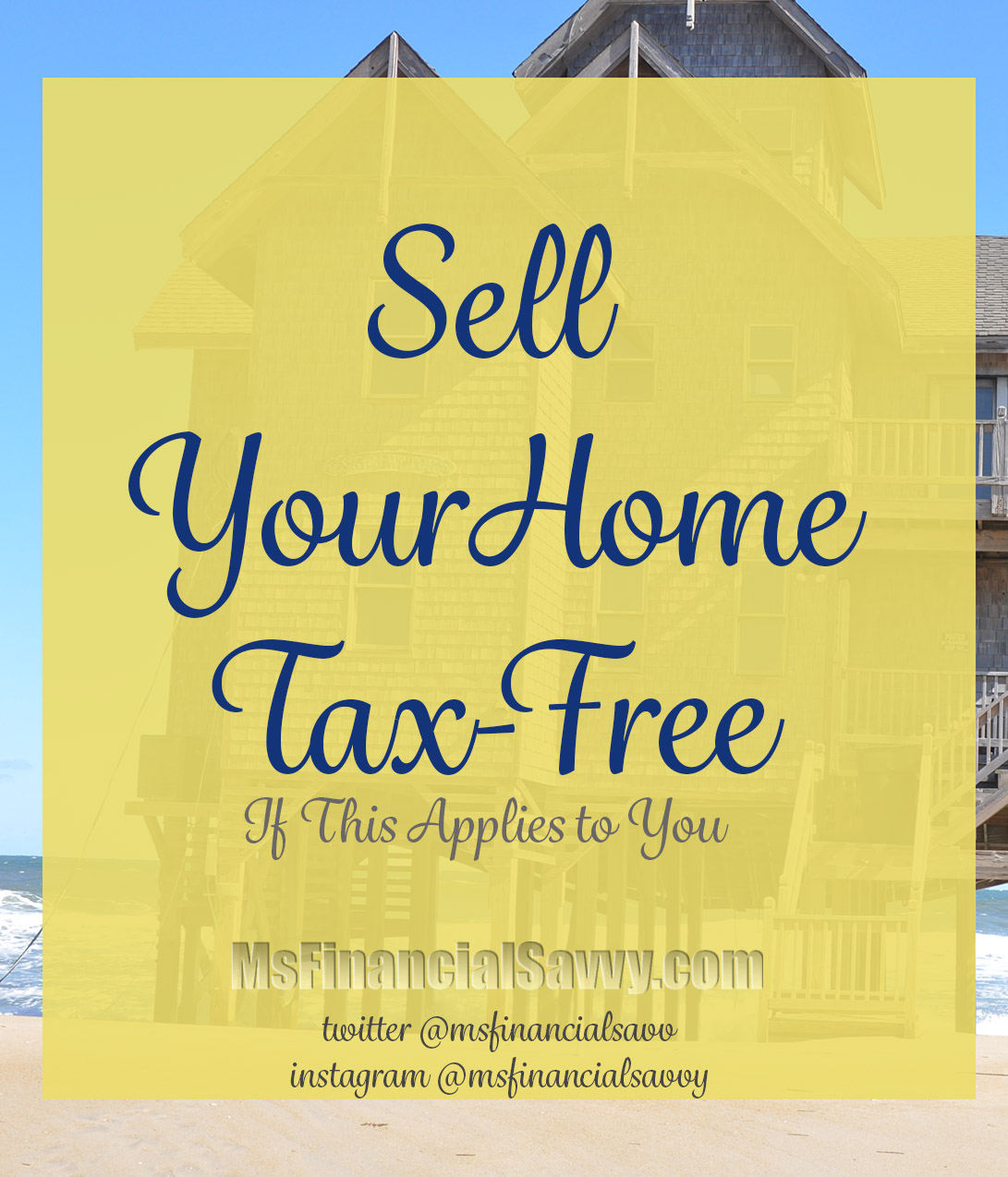 You can sell your home tax free