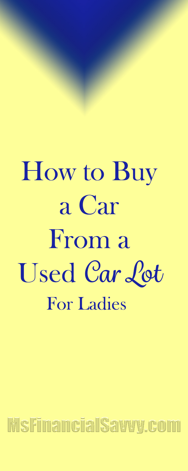 buy a car from a used car lot