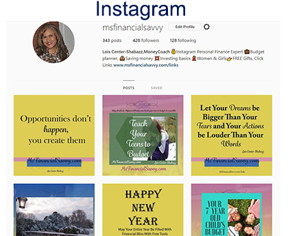 Join me on Instagram for personal finance