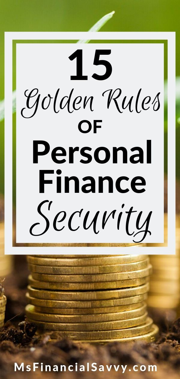 15 Golden Rules of Personal Finance Security
