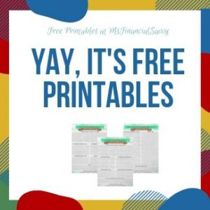 creating a sustainable budget with free printables
