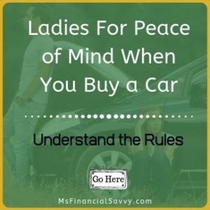 Remove predatory debt, Ladies for peace of mind when you buy a car you must understand the rules.