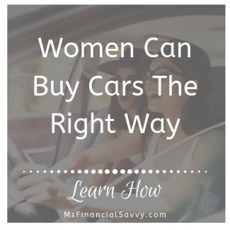 women can buy cars the right way