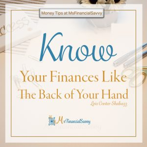 A step by step guide to create your personal finance statement