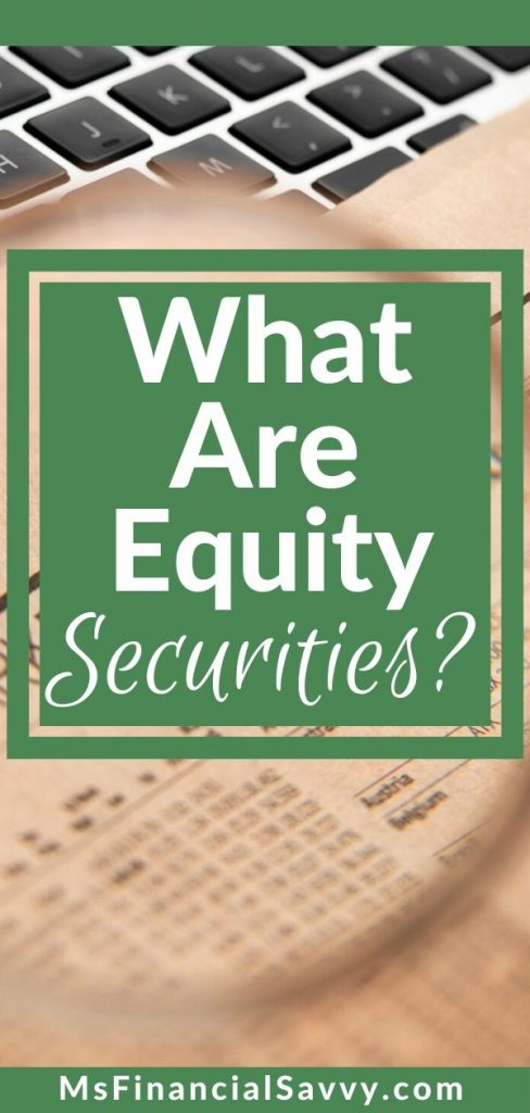Stock research tips - what are equity securities.