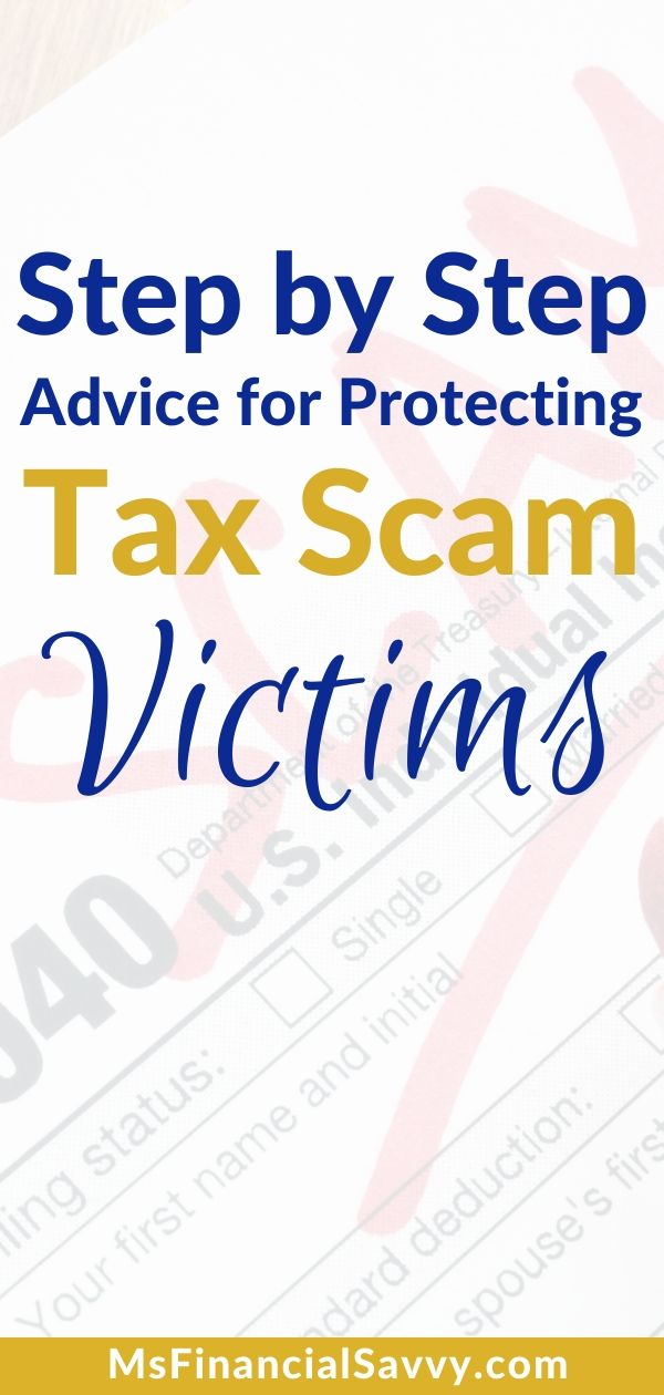 Tax Scam Victims Avoidance