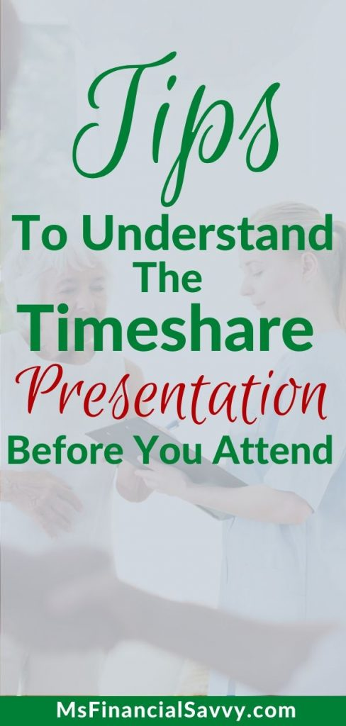 Time share presentation