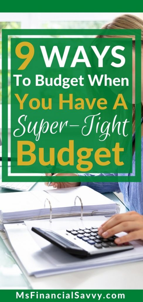 9 ways to budget when you have a super tight budget
