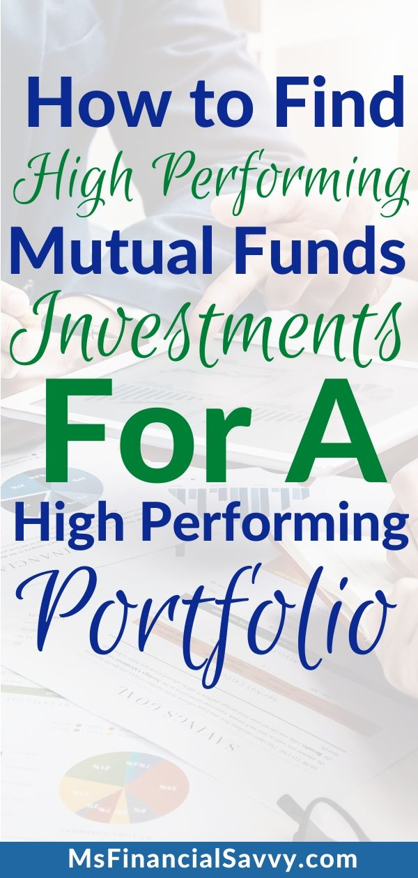 How To Find High Performing Mutual Funds For A High Performance Portfolio