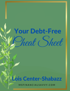 Debt Free Cheat Sheet to Get Your Money Right